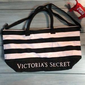 Victoria's Secret Striped Weekender Duffle Bag